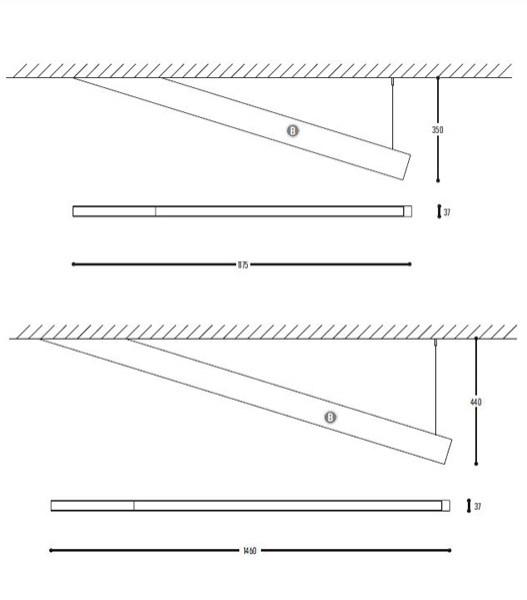 Angle beam